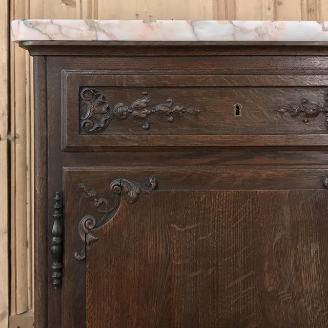 19th Century French Louis XIV Marble Top Buffet For Sale In Dallas - Image 6 of 13