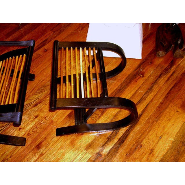Modern David Colwell Trannon C1 Reclining Lounge Chair and Ottoman Rattan For Sale - Image 3 of 10