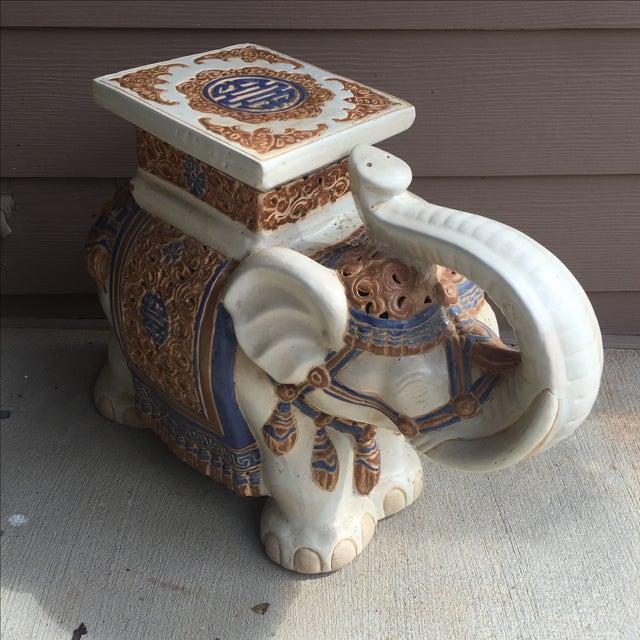 Chinoiserie Ceramic Elephant Garden Stool - Image 2 of 7
