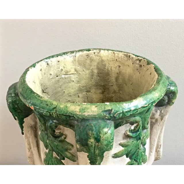 Concrete Vintage Mid Century Cast Concrete Lidded Urn For Sale - Image 7 of 13