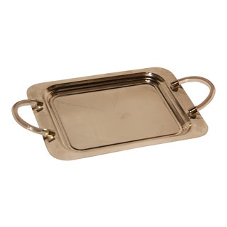 French Lucite Handle Tray For Sale