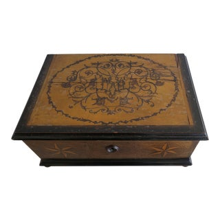 19th Century Italian Inlaid Bible Box For Sale