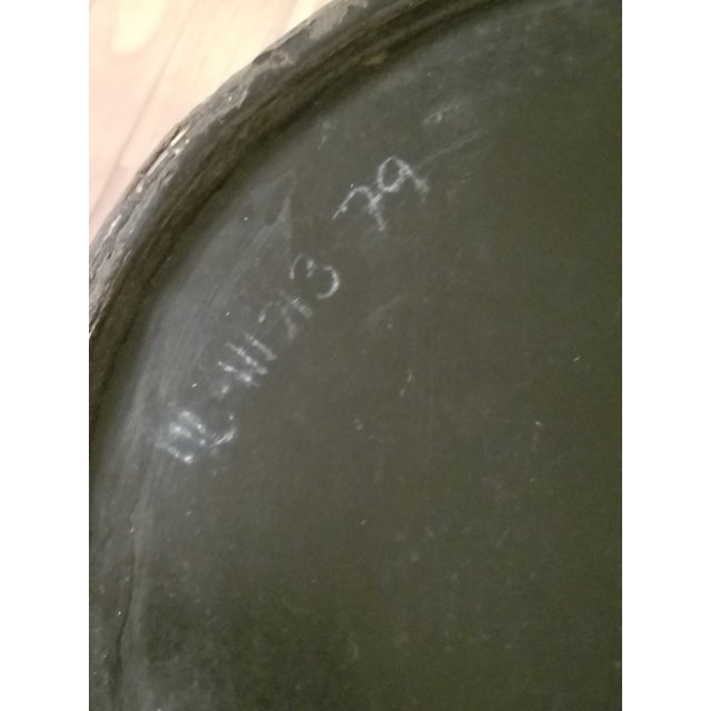 Black Shell Textured Ottoman / Stool For Sale - Image 8 of 9
