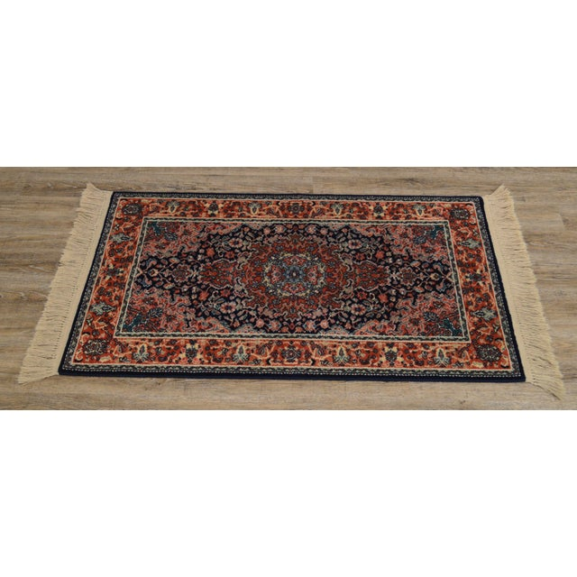 "Traditional Karastan Kashan Medallion 2'10"" X 5' Throw Rug #741 For Sale - Image 3 of 13"