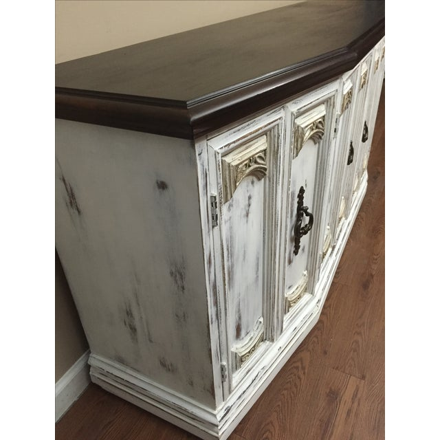 Distressed Wooden Sideboard Buffet - Image 4 of 9