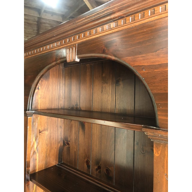 Traditional Ethan Allen Old Tavern Pine Bookcase For Sale - Image 3 of 10