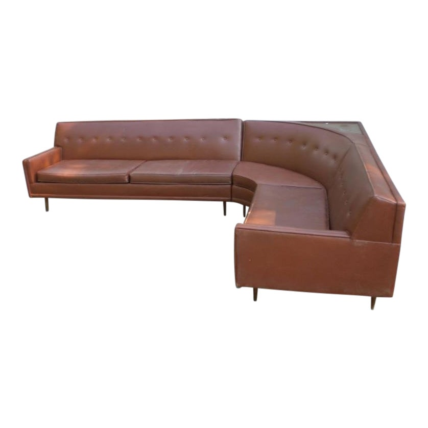 1960s Vintage L-Shape Sectional Sofa - 2 Pieces