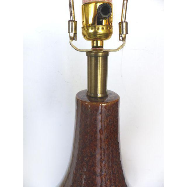 Mid-Century Modern Glazed Ceramic Table Lamp - Image 5 of 5