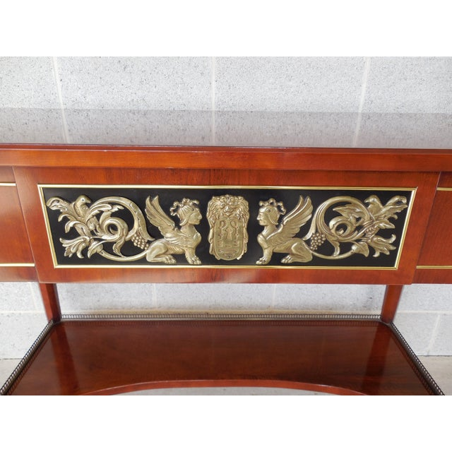 Metal JOHN WIDDICOMB Neo-Classical Bronze Mounted Console Table For Sale - Image 7 of 13