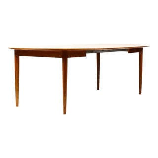 1960s Danish Modern Teak Round Dining Table For Sale