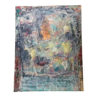 Vintage Original Abstract Painting For Sale