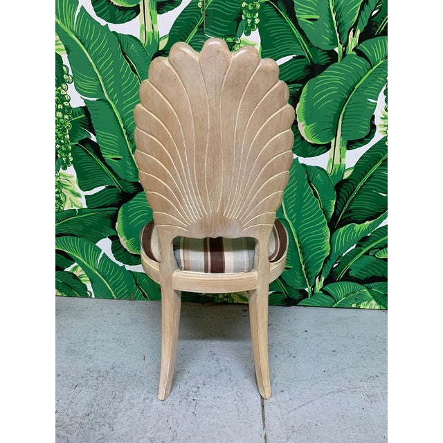 1980s Italian Decorative Venetian Shell Back Dining Chairs, Set of 6 For Sale - Image 5 of 8