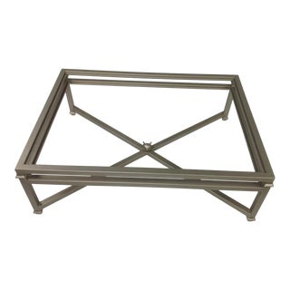 Modern Coffee Table With Glass Top For Sale