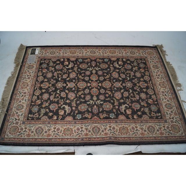 "Vintage Karastan Black Kashan Rug - 4'4"" X 6'10"" - Image 10 of 10"