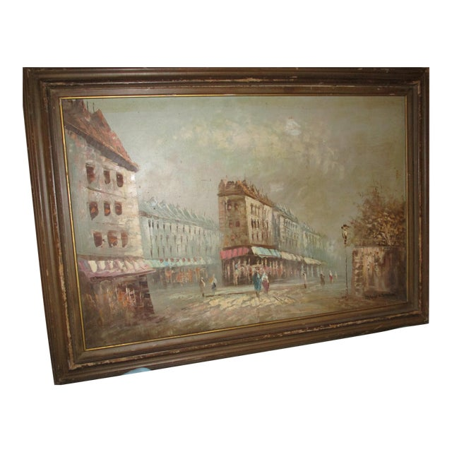 French Neo Impressionist Antoine Blanchard Oil on Canvas - Image 1 of 11