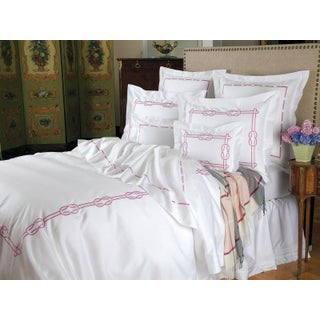 Orlando Duvet Cover Pink White in King For Sale