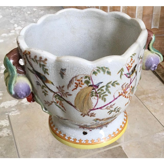 White Highly Decorative Chinese Export Style Cachepot For Sale - Image 8 of 10