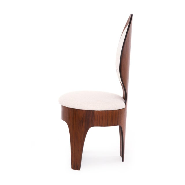1960s Henry Glass 'Spoon' Walnut Frame Dining Chairs - Set of 6 For Sale - Image 5 of 9