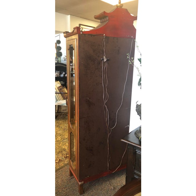 James Mont Chinoiserie Pagoda Curio Cabinet For Sale In Chicago - Image 6 of 13