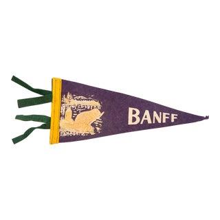 Vintage Banff Felt Flag Pennant For Sale