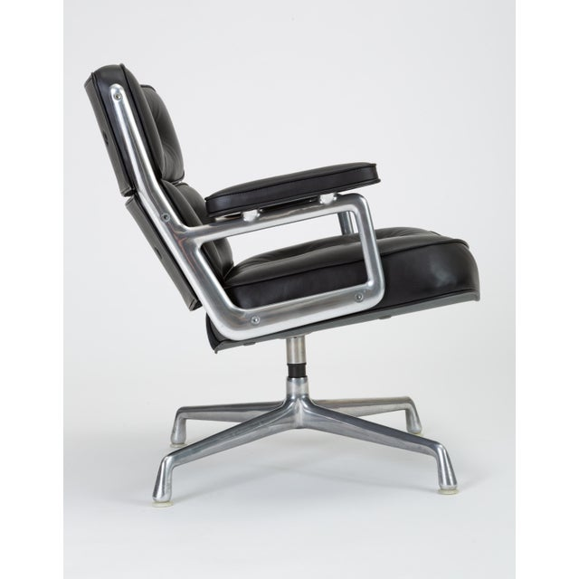 Black Black Leather Time Life Lobby Chair by Ray and Charles Eames for Herman Miller For Sale - Image 8 of 13