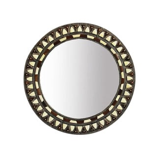 Round Inlay Mirror Small For Sale