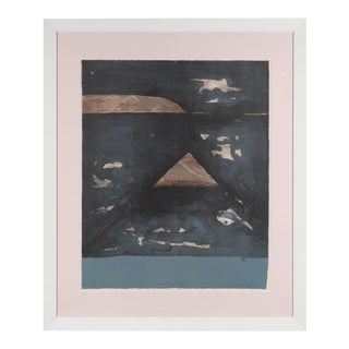 Mid-Century Abstract Expressionist Monoprint by Kenjilo Nanao For Sale