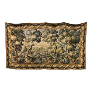 Flemish Style Large Tapestry Wall Hanging For Sale
