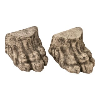 Architectural Elements, Large Lion Paw Feet , A-Pair For Sale