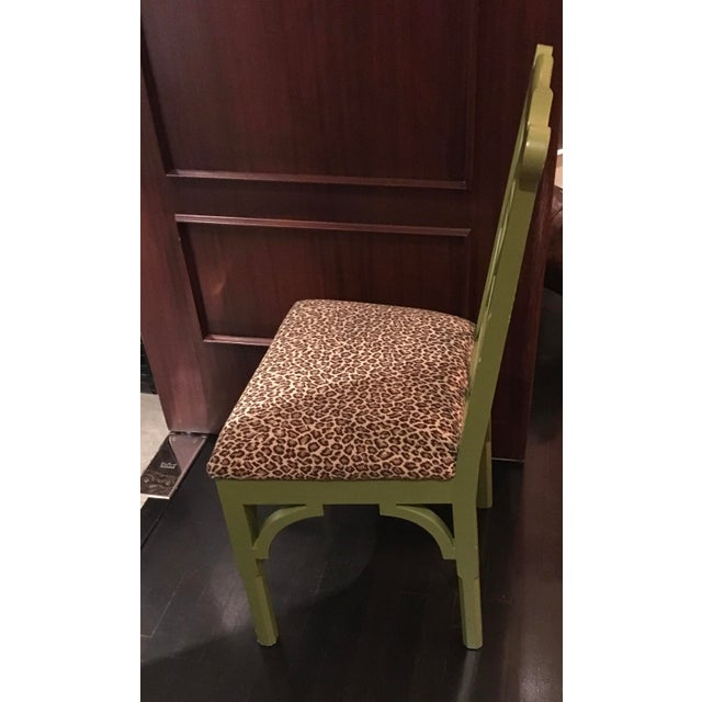 Custom Chinese Chippendale Green Chairs - Set of 10 - Image 7 of 11
