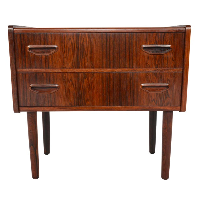 Danish Modern Two Drawer Rosewood Chest - Image 1 of 9
