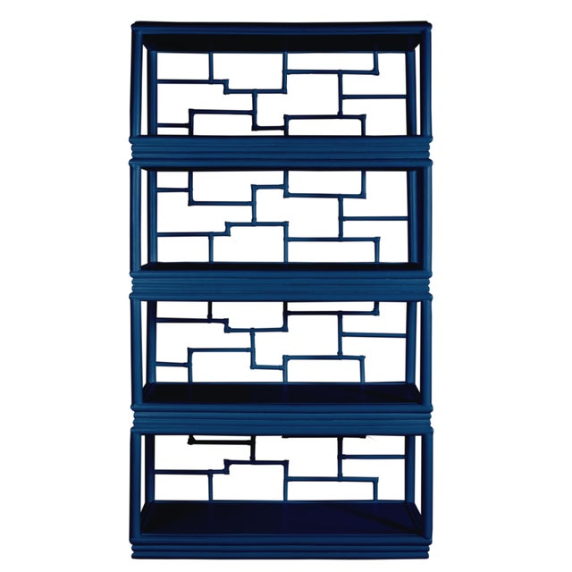 David Francis Tibet Etagere - Navy Blue For Sale - Image 4 of 7