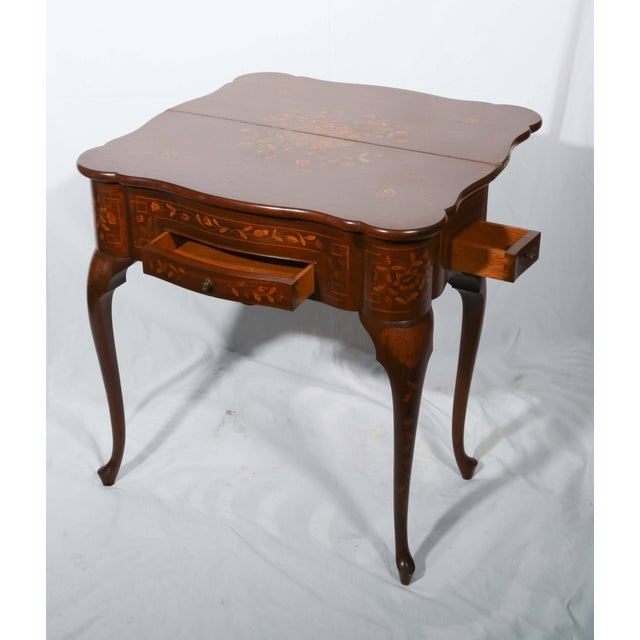 Fine Dutch Marquetry Game Table For Sale - Image 4 of 11