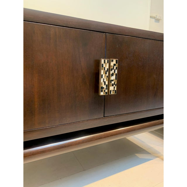 Mid-Century Modern 1960s Monteverdi-Young Dark Mahogany Inlaid End Tables - a Pair For Sale - Image 3 of 8