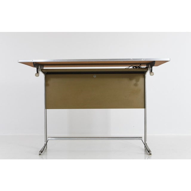 1960s Rare Herman Miller Action Office Standing Desk and Drawing Table, 1960s For Sale - Image 5 of 12