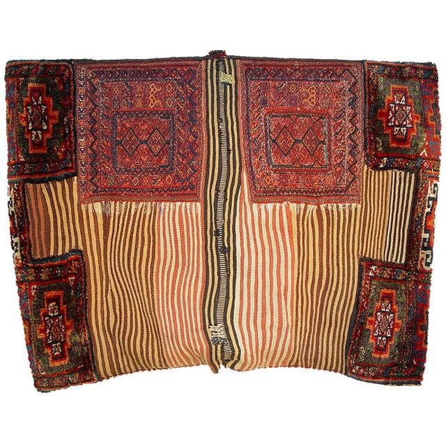 Old Persian Bakhtiari Soumak Khorjin Saddle Bag - Image 2 of 10