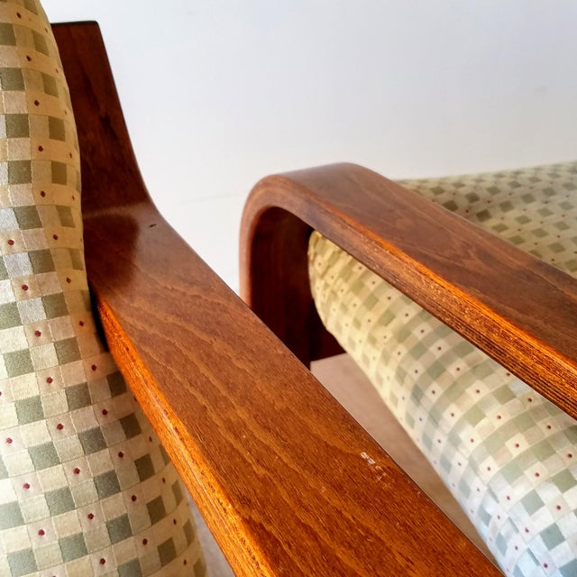 Brown 1970s Westnofa Bentwood Lounge Chairs - a Pair For Sale - Image 8 of 13