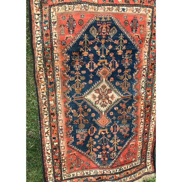 Anglo-Indian Vintage Sarouk Rug - 2′7″ × 4′2″ For Sale - Image 3 of 8