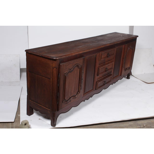 Brown Louis XV French Country Buffet For Sale - Image 8 of 11