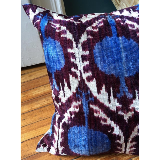 Boho Chic Boho Chic Purple and Teal Pillows - a Pair For Sale - Image 3 of 6