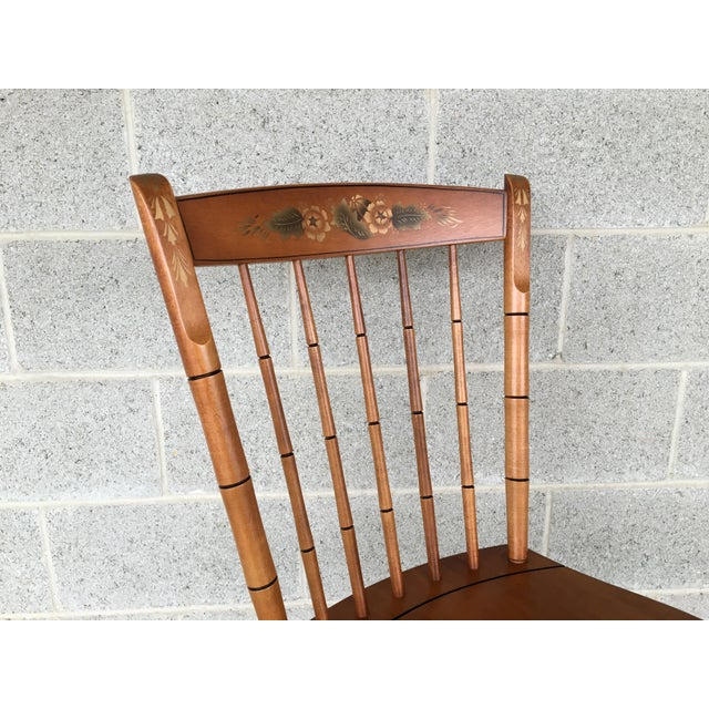 L. Hitchcock Maple Harvest Windsor Side Chairs - Set of 4 For Sale - Image 5 of 9