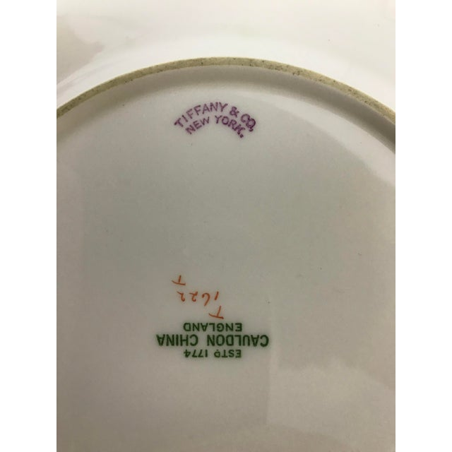"""Ceramic Cauldon England for Tiffany New York 9"""" Dinner/Luncheon Plates - Set of 12 For Sale - Image 7 of 9"""