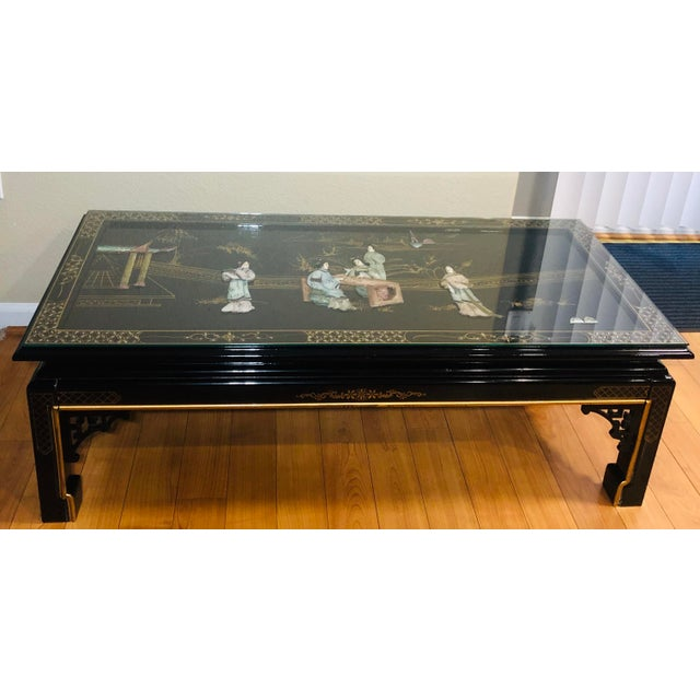Glass 1960s Chinese Coffee Table For Sale - Image 7 of 7