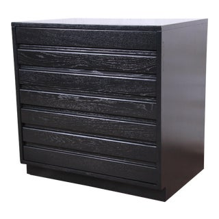 Mid-Century Modern Ebonized Four-Drawer Bachelor Chest by Sligh Furniture For Sale