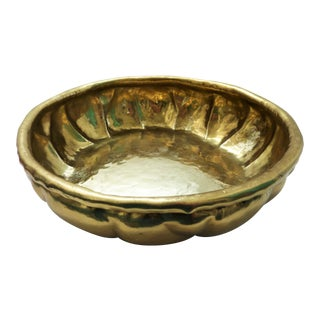 Antique Georg Von Mendelssohn Germany Arts & Crafts Hammered Brass Bowl For Sale