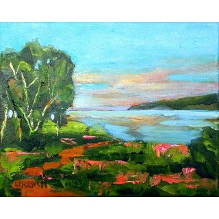 Lynne French Pacific Sunrise Plein Air Monterey Landscape Painting For Sale