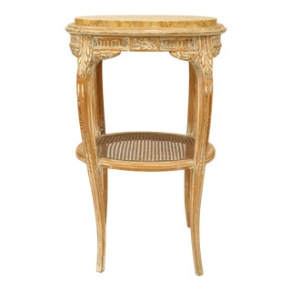 French Louis XV Bleached Oval End Table For Sale