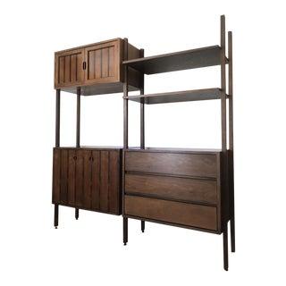 1960s Mid-Century Modern Stanley Room Divider Unit For Sale