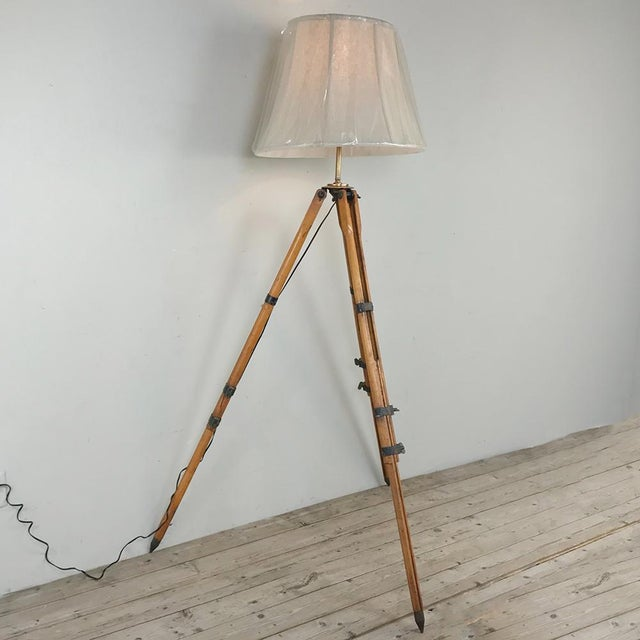 French Antique French Surveyors Floor Lamp For Sale - Image 3 of 13