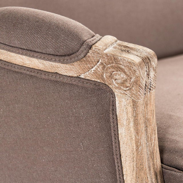 Purple Hollow Maison Settee in Aubergine For Sale - Image 8 of 10